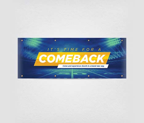 Church Banner Comeback