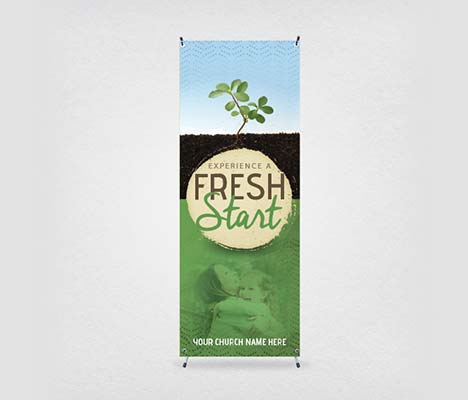 Church Banner Fresh Start