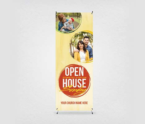 Church Banner Open House Sunday
