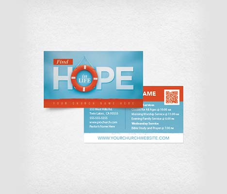 Mini Church Invite Card Find Hope In Life